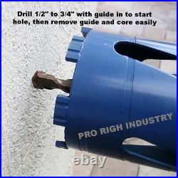 1.5, 2 & 2.5 Dry Core Bit with SDS Plus Adapter & Center Guide hilti bosch