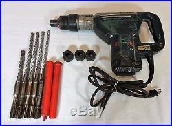 BOSCH 11247 1-9/16 Corded Electric Spline Combination Hammer Drill with Bits
