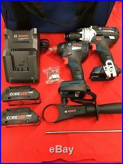 BOSCH 2pc 18V EC Brushless Hammer & Impact Drill (GSB18V-755C) OPENBOX NEW