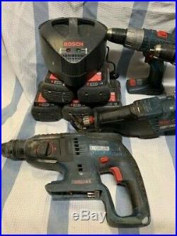 BOSCH 36 VOLT Circular Reciprocating SAWS Rotary Hammer Drills 36V Batteries LOT