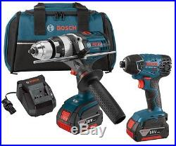 BOSCH CLPK222-181 18V Li-Ion 1/2 Hammer Drill Driver & 1/4 Hex Impact Driver