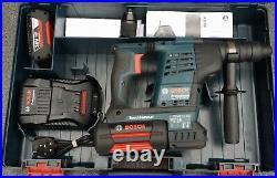 BOSCH GBH36VF-LI PLUS 36V SDS ROTARY HAMMER DRILL + 2x BATTERIES & CHARGER