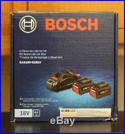 BOSCH GXS18V-02N24 6.3ah (2) BATTERY STARTER KIT