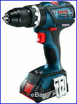 BOSCH HDS183-02-RT 18V EC Brushless 1/2-Inch Cordless Hammer Drill Driver Kit
