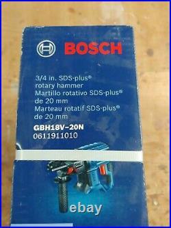 BOSCH Model GBH18V-20N 18V 3/4 in. SDS Plus Rotary Hammer- bare tool