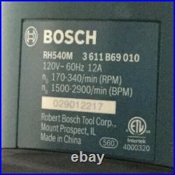 BOSCH RH540M SDS Max Rotary Hammer Kit 12 A 1500 to 2900 Bpm 120 V Case Cracked