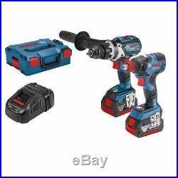 Bosch 06019G4273 18v Brushless Combi & Impact Wrench / Driver Set 2 5.0ah Batts