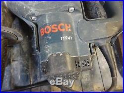 Bosch 11247 Spline Hammer Drill Boschhammer with lots of heavy duty bits LOOK