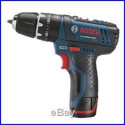 Bosch 12V Max Li-Ion 3/8 Ultra Compact Hammer Drill Kit PS130-2A New