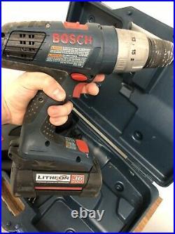 Bosch 18636-02 36 Volt 1/2 Brute Tough Hammer Drill Kit Good Shape