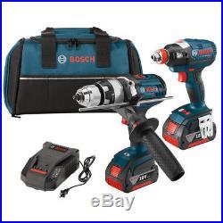 Bosch 18V 1/2 Hammer Drill & Socket Impact Driver CLPK224-181 Reconditioned