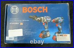 Bosch 18V 1/2 Hammerdrill/Driver&Impact Driver Combo Kit GXL18V-224B25 NEW