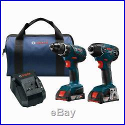 Bosch 18V 4.0 Ah Li-Ion Hammer Drill & Impact Driver Kit CLPK237A-181-RT recon