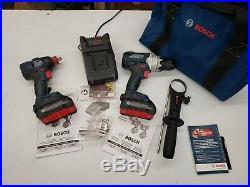 Bosch 18v Brushless 1/2 Sq Impact, 1/2 Hammer Drill Kit # Gdx18v-1800c