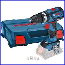 Bosch 18v GSB18V-60C Brushless Combi Hammer Drill Metal Chuck Bare in L-CASE