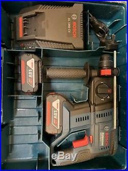 Bosch 18v Sds Hammer Gbh 18v-20 Cordless Masonry Drill 4.0ah