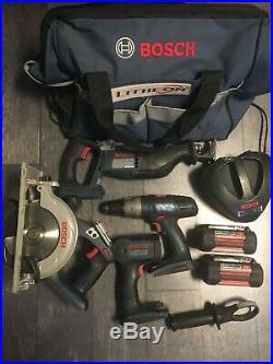 Bosch 36V Combo Kit Driver / Hammer Drill, Circular Saw, Reciprocating Saw