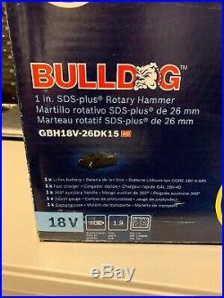 Bosch Bulldog CORE18V 1-in SDS-Plus Cordless Rotary Hammer Drill