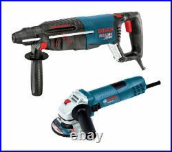 Bosch Bulldog Xtreme Rotary Hammer Drill 11255VSR + Angle Grinder GWS8-45 BUNDLE