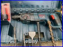 Bosch Bulldog Xtreme rotary hammer drill with 8 bits + 1 adapter