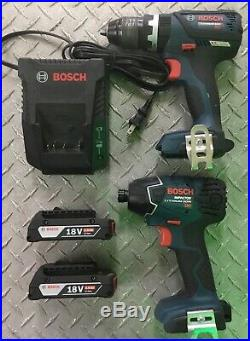 Bosch CLPK222-181 18V 1/2 Hammer Drill/Driver-1/4 Hex Impact Driver Combo Kit