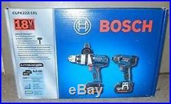 Bosch CLPK222-181 18-volt Lithium-Ion 2-Tool Combo Kit 2 Batteriers