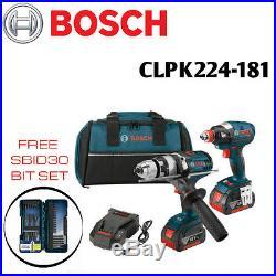 Bosch CLPK224-181 18V Cordless Combo Hammer/Drill and Impact Driver SBID30