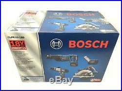 Bosch CLPK40-180 18-Volt Litheon 4 Tool Combo Kit with Hammer Drill, Saws, & Light