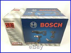 Bosch CLPK411-181 18 V 4-Tool Lithium-Ion Cordless Combo Kit Hammer Drill Impact