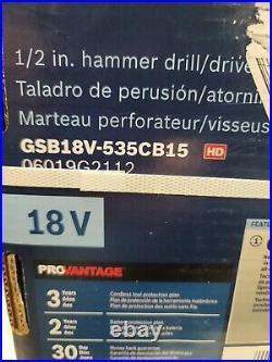 Bosch CORE 18V GSB18V-535CB15 1/2 Hammer Drill / Driver Kit (New In Box)