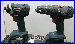 Bosch Combi Hammer Drill + Cordless Impact Driver + 2 x 4.0Ah + Charger Case Kit