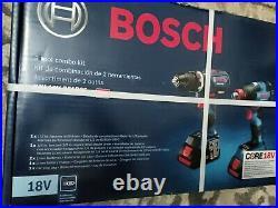 Bosch Combo Kit GSB18V-535C GDX18V-1800C Hammer Drill Driver Impact 18V core18V