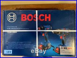 Bosch Core 18v Drill Hammer Driver Impact Combo + 4ah batt + Case GXL18V-239B25