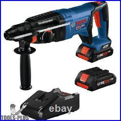 Bosch GBH18V-26DK25 18V EC Brushless SDS+ Bulldog 1 Rotary Hammer with2 4ah New
