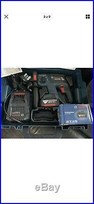 Bosch GBH18V-EC 18v SDS Plus Brushless Rotary Hammer Drill 2 X Batteries &extras