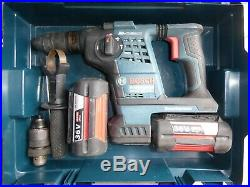 Bosch GBH36VF-LI PLUS 36v SDS Hammer Drill & 2x4 Ah Batteries & New Charger