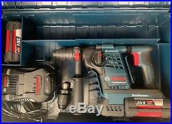 Bosch GBH36VF-LI PLUS 36v SDS Rotary Hammer Drill 2 x 4.0Ah