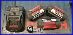 Bosch GBH36VF-LI Plus 36v SDS Rotary Hammer Drill 3 x 4.0Ah Li-Ion Batts, charger
