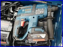 Bosch GBH 18V-EC Li Cordless SDS hammer Drill Kit, 5.0Ah Battery, Fast Charger