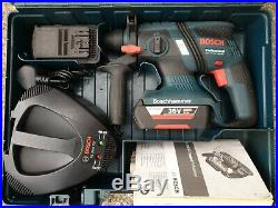 Bosch GBH 36V-EC Li Cordless SDS hammer Drill Kit, 2x 2.0Ah Batteries, Charger