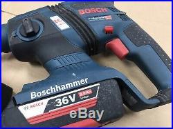 Bosch GBH 36 V-EC Cordless SDS Hammer Drill 2X Li-Ion Batteries Compact