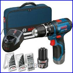 Bosch GSB12V-15 12v Lithium GSB Combi Hammer Drill 1 x 2ah Battery + 39 Access