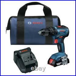 Bosch GSB18V-490B12 18V EC Brushless 1/2 in. Hammer Drill Driver Kit (2 Ah) New