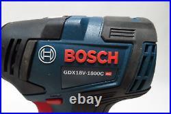 Bosch GSB18V-755C 1/2 In. Hammer Drill GDX18V-1800C 1/4 In. & 1/2 In Impact