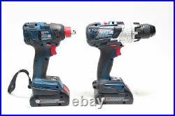 Bosch GSB18V-755C, GDX18V-1800C Hammer Drill/Driver and Impact Driver Set
