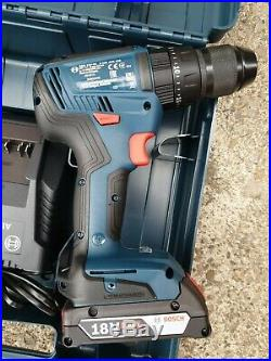 Bosch Gsb 18v 50 18v Li Cordless Combi Hammer Drill Driver Batteries Charger