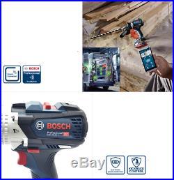 Bosch GSB 18V-85 C Hammer Drill 2x6.0Ah Bluetooth LED 13mm L-Boxx Charger 220V