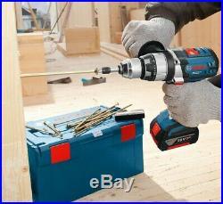 Bosch GSB 18 VE2-LI Cordless Lithium Robust Series 18v Combi Drill + Lboxx Case