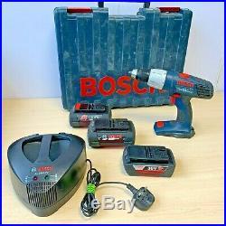 Bosch GSB 36V Li Cordless Combi Hammer Drill Kit 3 X Batteries Fast Charger Case