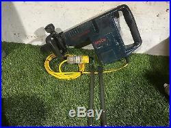 Bosch GSH 11 E 110v Corded Demolition SDS Max Hammer Drill 2013 + 2 New Chisels